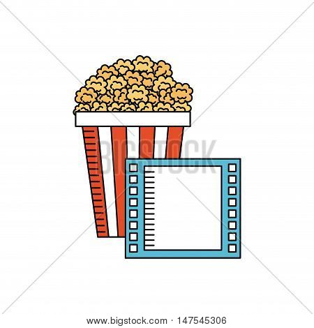 pop corn with cinema icon vector illustration design