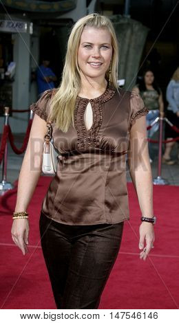 Alison Sweeney at the Los Angeles premiere of 'Just Like Heaven' held at the Grauman's Chinese Theatre Hollywood, USA on September 8, 2005.
