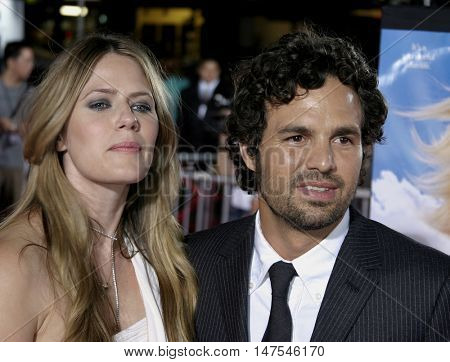 Mark Ruffalo and Sunrise Coigney at the Los Angeles premiere of 'Just Like Heaven' held at the Grauman's Chinese Theatre Hollywood, USA on September 8, 2005.