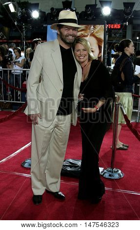 Micky Dolenz and wife Donna Quinter at the Los Angeles premiere of 'Just Like Heaven' held at the Grauman's Chinese Theatre Hollywood, USA on September 8, 2005.