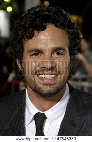 Mark Ruffalo at the Los Angeles premiere of 'Just Like Heaven' held at the Grauman's Chinese Theatre Hollywood, USA on September 8, 2005.