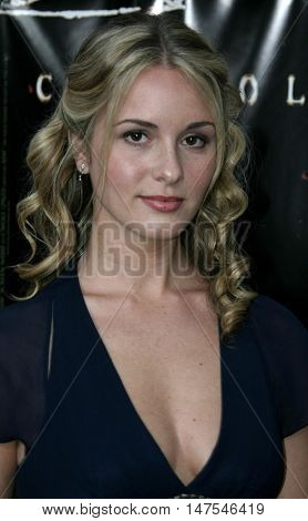 Erica Yates at the Los Angeles screening of 'Cry Wolf ' held at the ArcLight Theaters in Hollywood, USA on September 15, 2005.
