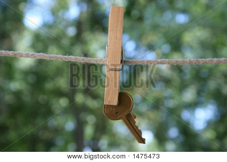 Key On A Clothespin