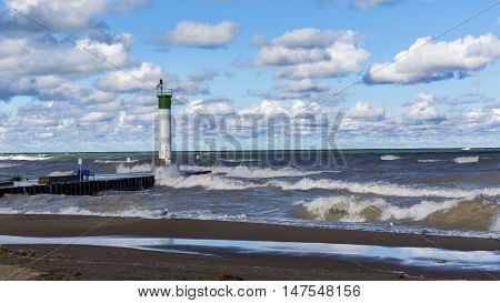 Lake Huron Lighthouse - Grand Bend, Ontario