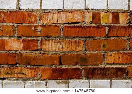 Brickwork, brick, pattern of old brick surfaced, rough brick wall, brickwall, brick house