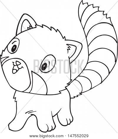 Doodle Red Panda Vector Illustration Art