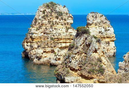 Cliffs Near Beach (algarve, Portugal).