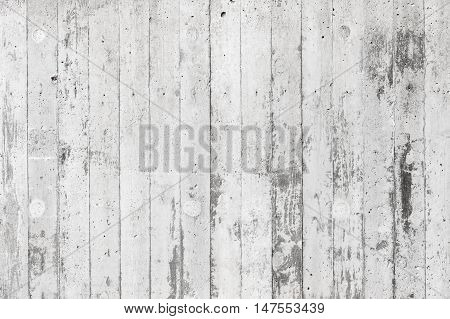 White Concrete Wall With Relief Pattern