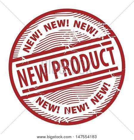 Grunge rubber stamp with the text New Product written inside the stamp, vector illustration