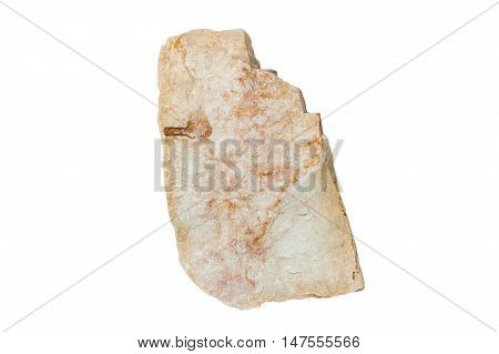 red rock , stone  on white background
