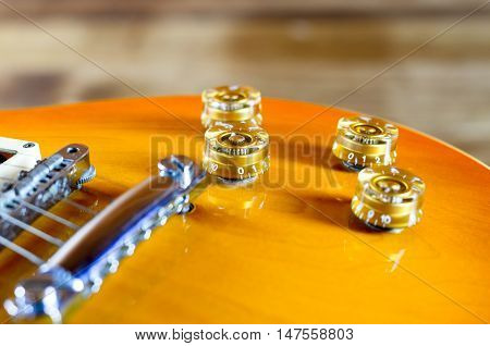 Electric guitar lespaul close up music background