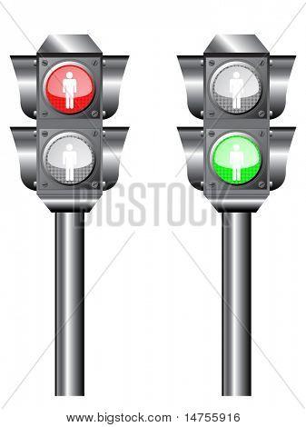 illustration of Traffic light or semaphore