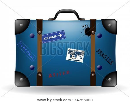 blue suitcase illustration
