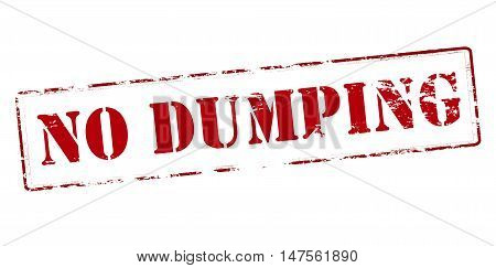 Rubber stamp with text no dumping inside vector illustration