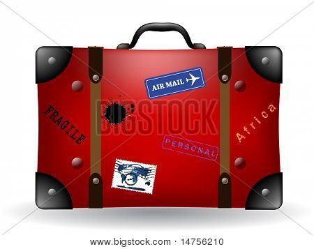 travel suit case or bag illustrated