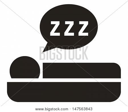 Sleep icon symbol bed breakfast hotel night