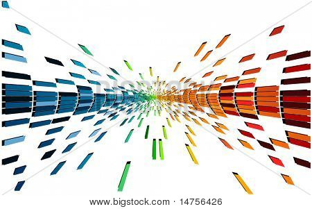 várias cores e formas pixel