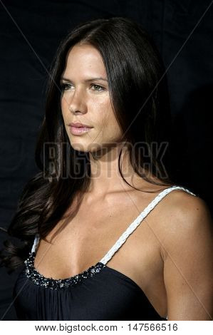 Rhona Mitra at the FX Networks NIP/TUCK 3rd Season premiere held at the El Capitan Theatre in Hollywood, USA on September 10, 2005.