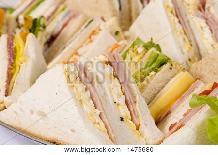 Close Up Sandwich Platter