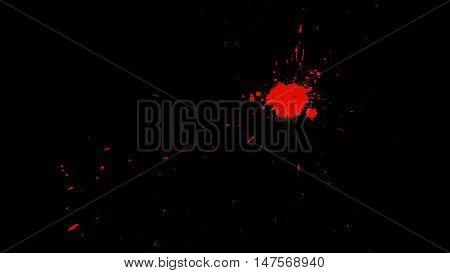 Blood Burst Motion Blur Over Transparent Background with Alpha Channel. Easy use in motion design 4K
