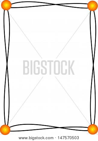 Black abstract frame suitable as a container or background