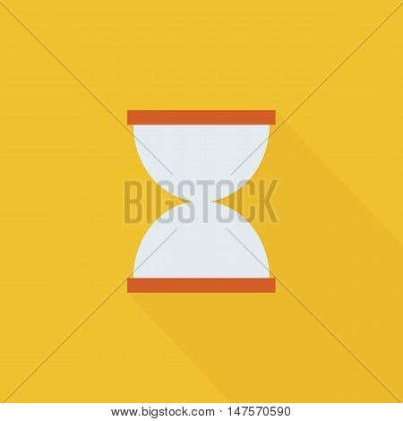 Hourglasses icon Flat design style vector illustration. long shadow icon.