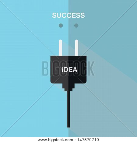 Idea to success ac power plugs icon vector