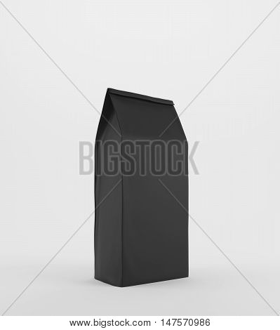Black Lunch Paper Bag On White Surface