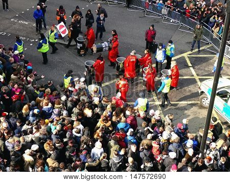 London, Uk - 14 February 2016: Clean Up Participants Chinese New Year 2016