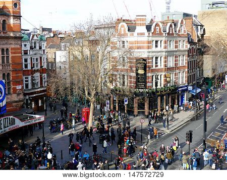 London, Uk - 14 February 2016: Crowd Scattering After Chinese New Year 2016