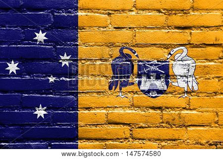 Flag Of Australian Capital Territory, Australia, Painted On Brick Wall