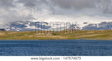 Hardangerjokulen Glacier On Top Of Hardangervidda Plateau In Hordaland, Norway