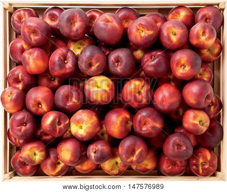 Nectarines sweet fruit in the box raw food healthy
