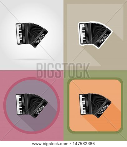 accordion flat icons vector illustration isolated on background