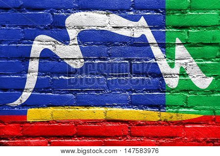 Flag Of Cape Town, South Africa, Painted On Brick Wall