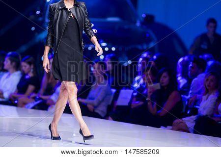 Sofia Fashion Week Female Black Dress