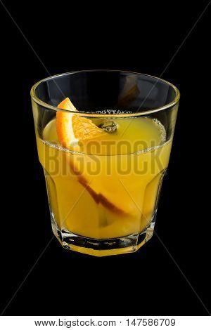 Orange Screwdriver Cocktails On Black Background