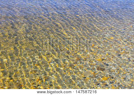 Pure sea water abstract background. Aqua pattern