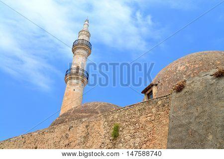 Rethymno city Greece Mosque Neratzes landmark architecture