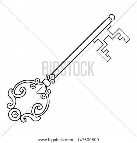 Vector Single Lineart Antique Key