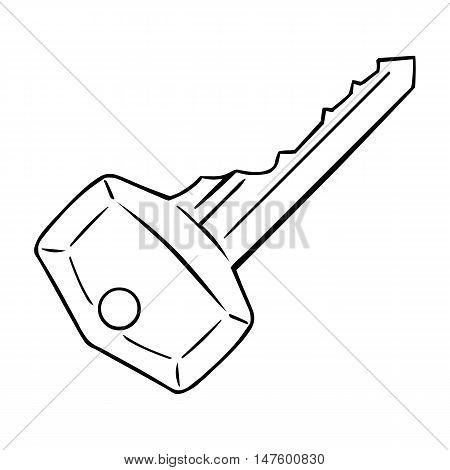 Vector Single Lineart Modern Key