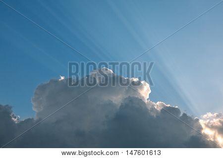 Cloudscape With Sunbeams