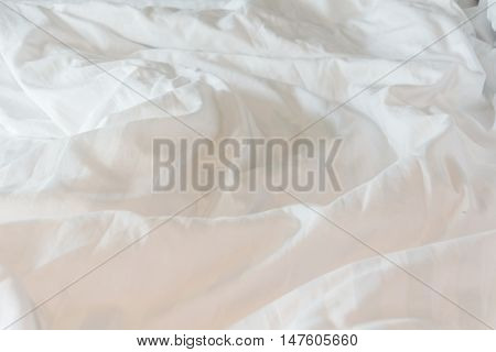 white blanket messy white bedding sheet messy