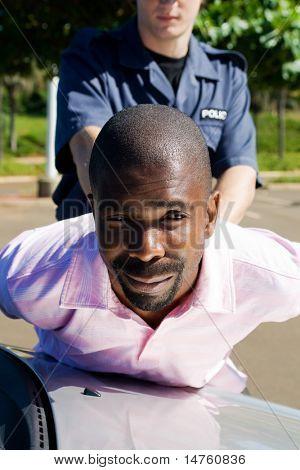 policeman arrest suspect