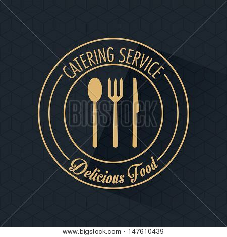 Fork spoon knife and cutlery icon. Catering service restaurant and menu theme. Vector illustration