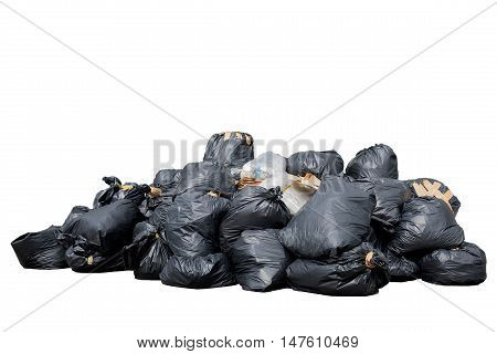 Bin bag  trash bags isolated on white background