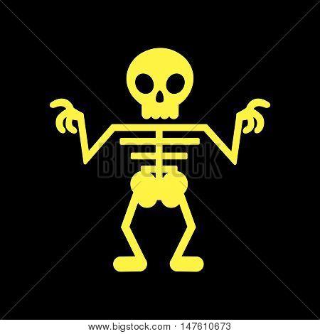 flat icon on stylish background halloween skeleton