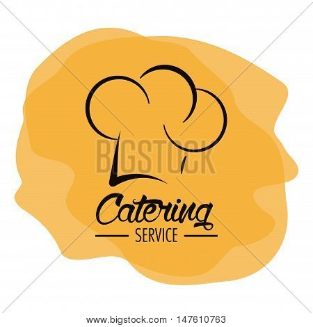 Chefs hat icon. Catering service restaurant and menu theme. Vector illustration