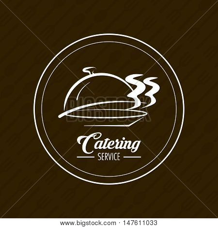Hot plate icon. Catering service restaurant and menu theme. Vector illustration
