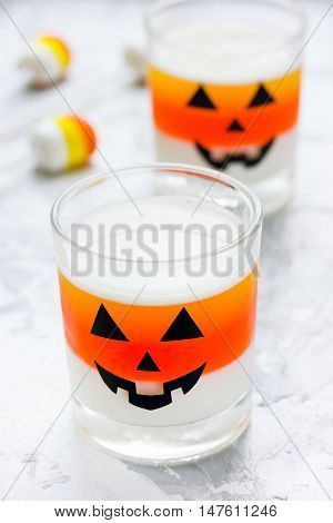 Sweet candy corn jelly for Halloween party